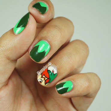 Peter Pan (A Tribute to Robin Williams nail art by Rina Alcantara