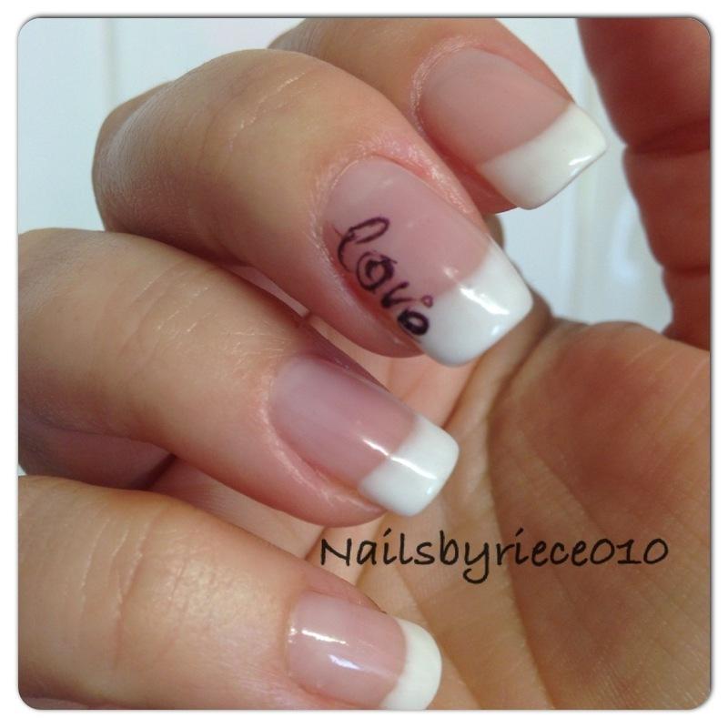 Love nail art by Riece