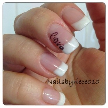 Love nail art by Riece