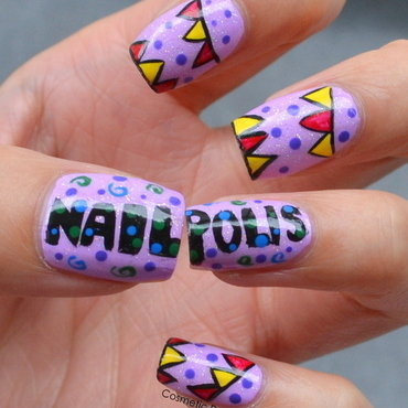 Happy 1,000,000 Nailpolis! nail art by Jayne