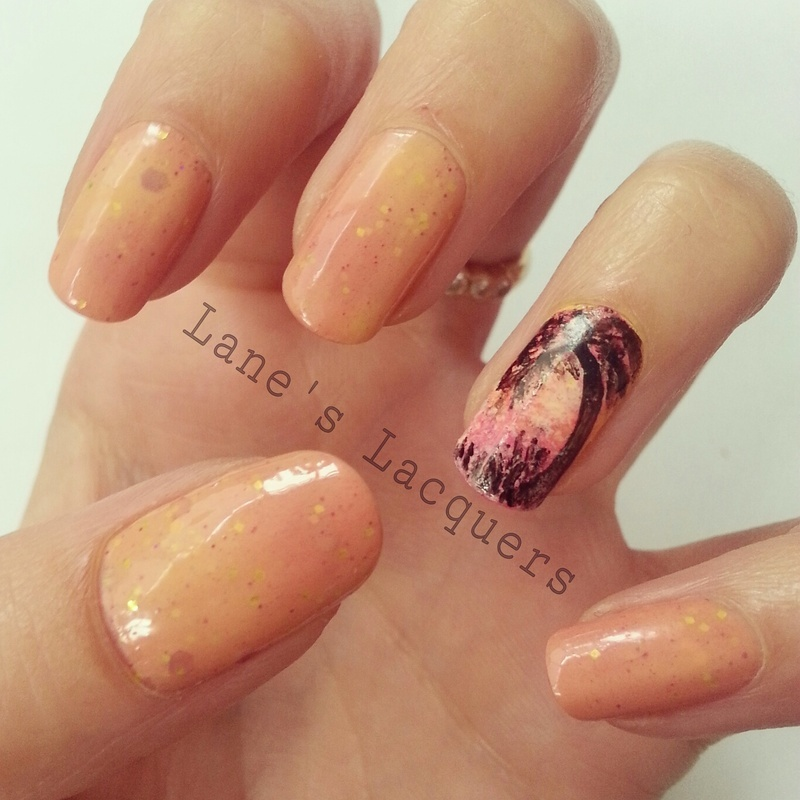 Thermal Sizzling Sunset nail art by Rebecca