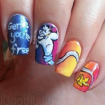 Genie, You're Free! nail art by Adi Buki