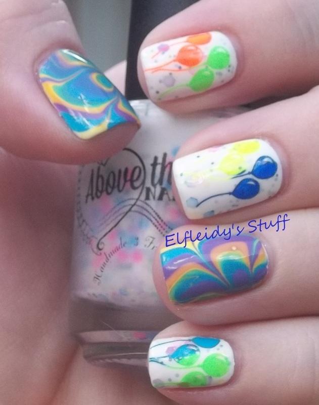 Celebration! nail art by Jenette Maitland-Tomblin