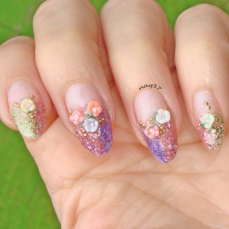 Fairy Nail Art: Fairy Garden Nail Art By Nora (naq57)