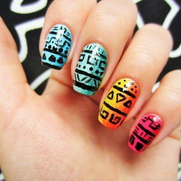 Tribal nail art by Jane