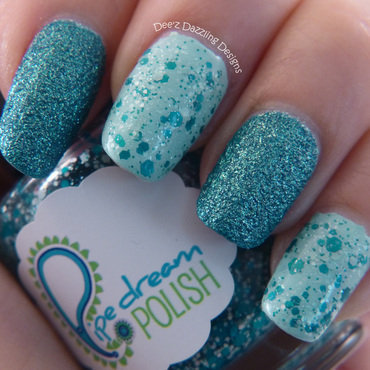 Blue nail art by Denise