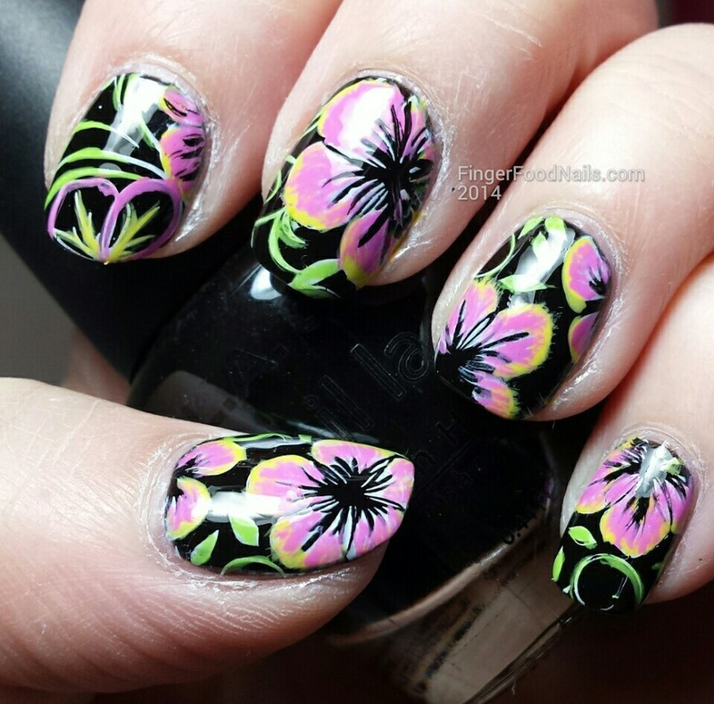 Something tropical!  nail art by Sam