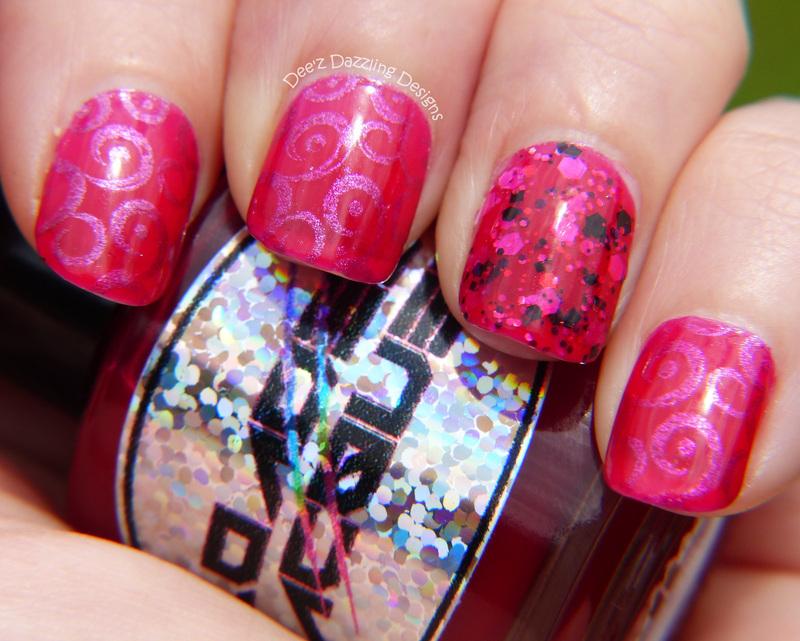 Pomegranate Jelly Sandwich nail art by Denise