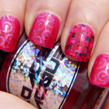 Pomegranate Jelly Sandwich nail art by Denise