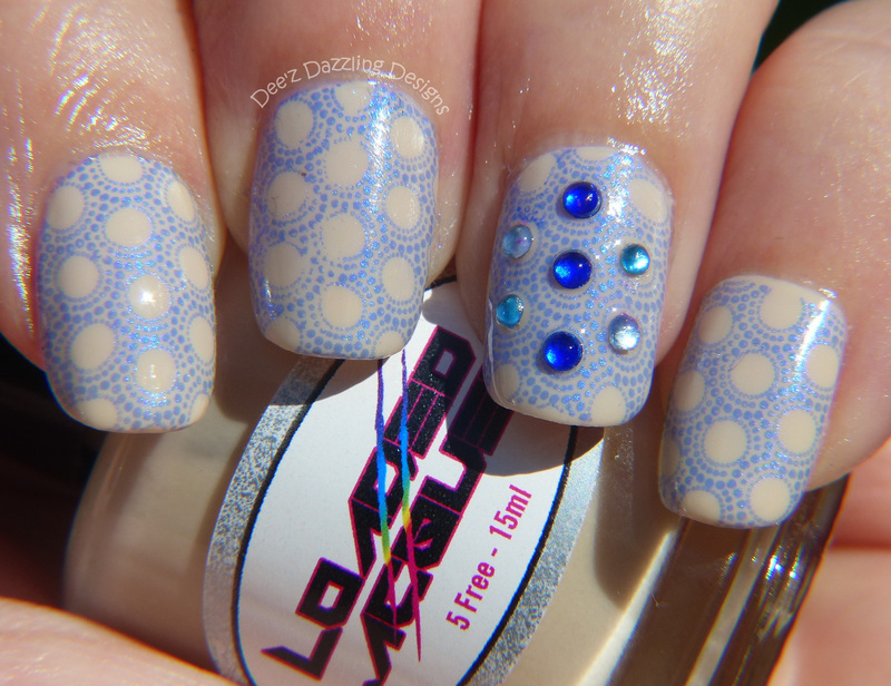 Moroccan Inspired nail art by Denise