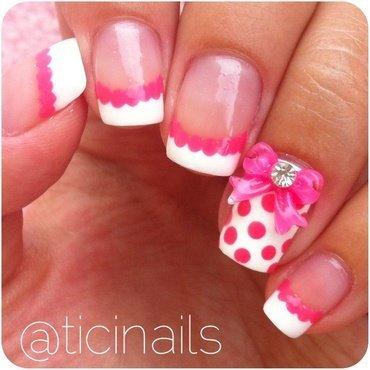 Pretty in pink nail art by Patricija Zokalj