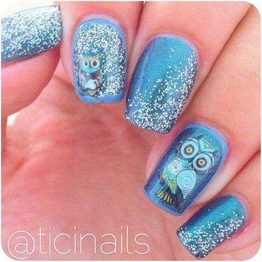 Owlies nail art by Patricija Zokalj