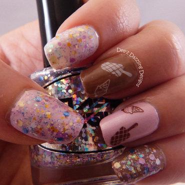 Ice Cream nail art by Denise