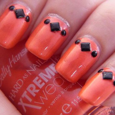 Studded Coral nail art by Denise