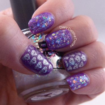 Diamonds nail art by Denise