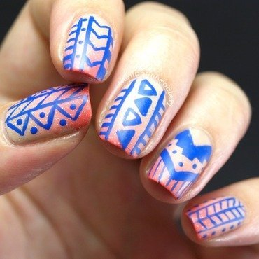 Southwestern Wedding Anniversary Nails nail art by Emiline Harris