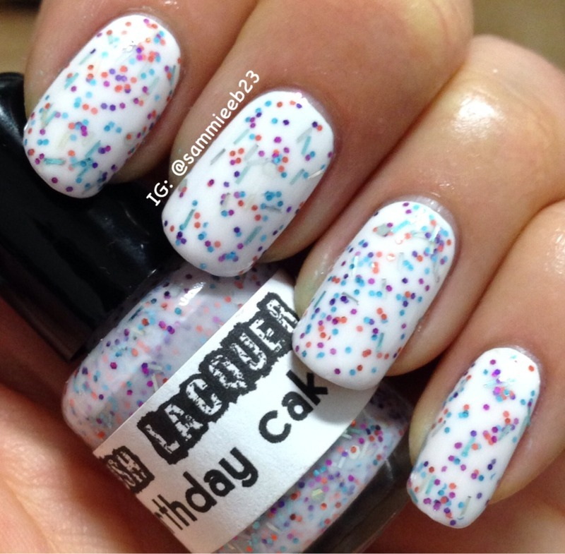 Cult Nails Tempest and Polish Me Silly Birthday Cake Swatch by sammieeb23