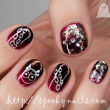 Pirate nail art nail art by sabbatha