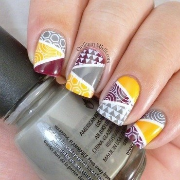 Geometric nail art nail art by Michelle