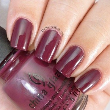 China Glaze Purr-fect plum Swatch by Michelle