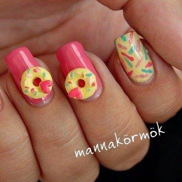 donut nail art nail art by Marianna Kovács