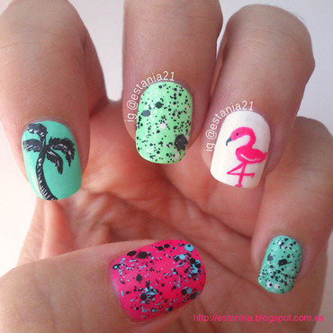 Tropical Nails nail art by Carla Alex