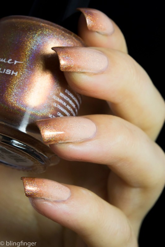Subtle Holo Tips nail art by  Petra  - Blingfinger