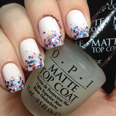 Degradê de glitter nail art by Nathana Mezzalira