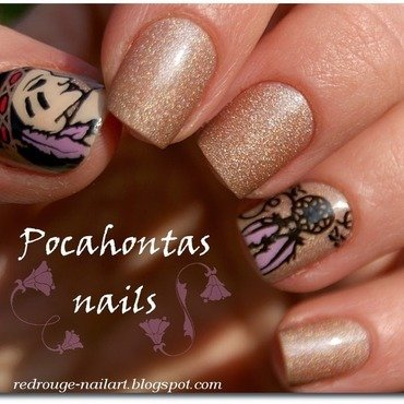 Pocahotas Nails nail art by RedRouge