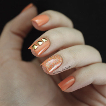 Simply Studded nail art by Mare