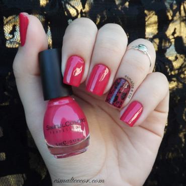 Pink nails nail art by Gabriela Becker