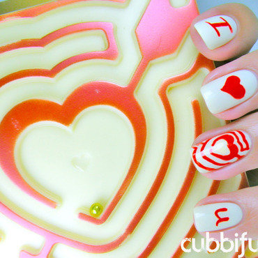 Throwback Thursday With Love nail art by Cubbiful