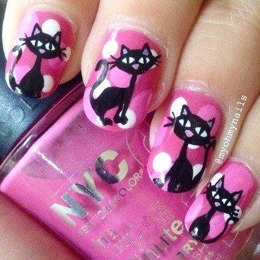 Crazy Cats nail art by Niki My Oh My Nails