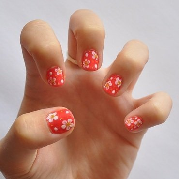 Friendly Summer Flowers nail art by LOreeNA