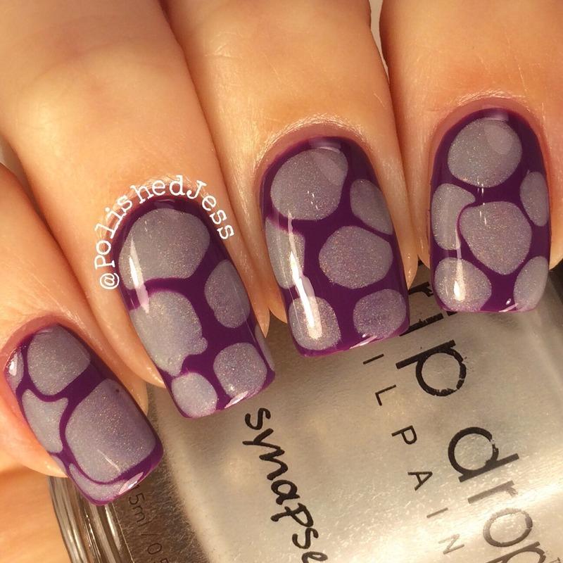Blobs  nail art by PolishedJess