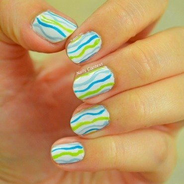 Wavy Nails nail art by NailsContext