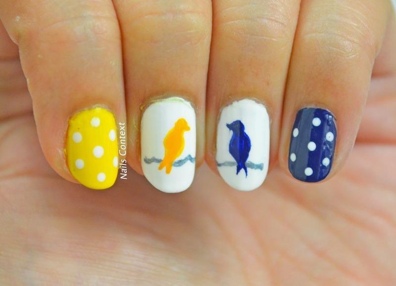 Birds Nail Art nail art by NailsContext