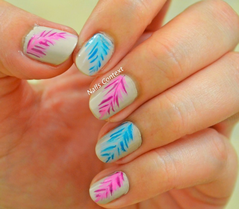 multi-color leaves  nail art by NailsContext