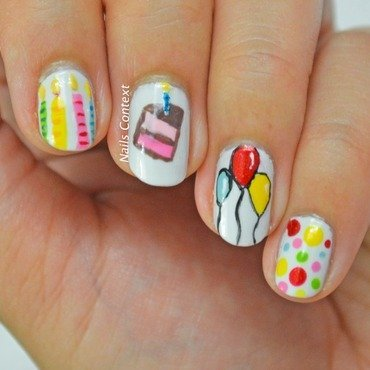 Party Nails nail art by NailsContext