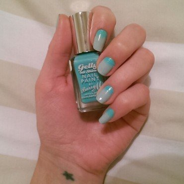 Aqua Gradient nail art by Claire Crilly