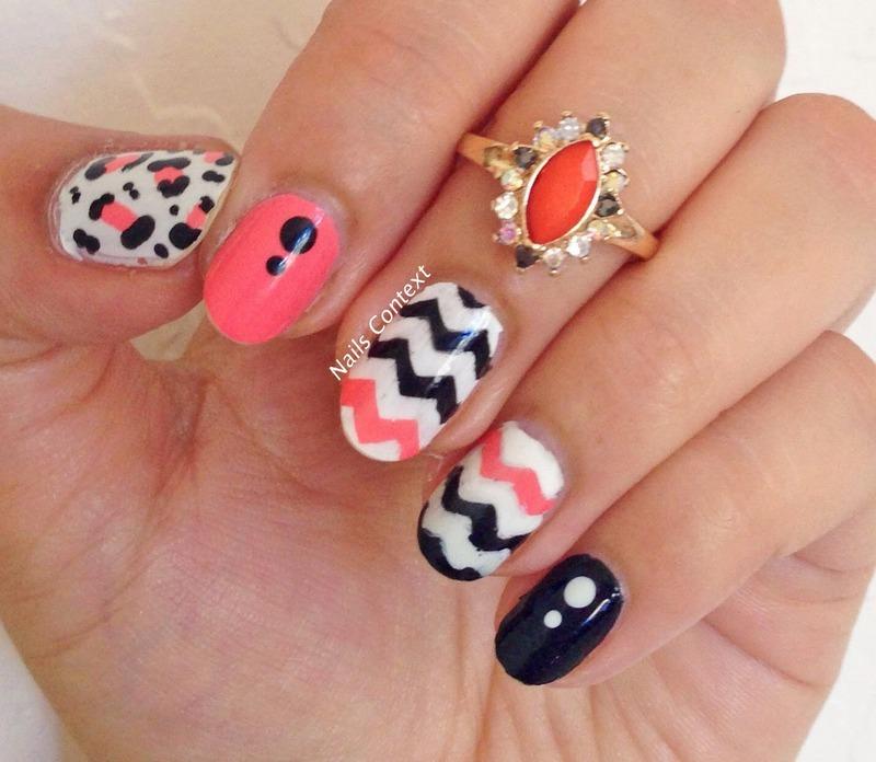 Chevron Nails nail art by NailsContext