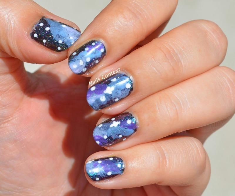Galaxy Nails nail art by NailsContext