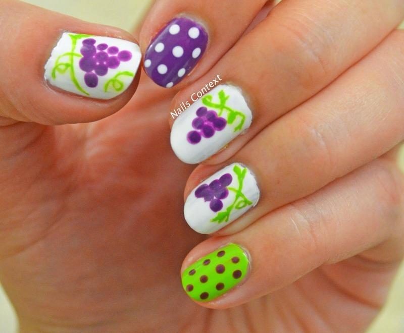 Grapes Nail Art nail art by NailsContext