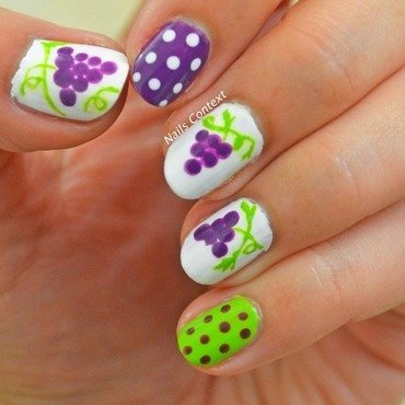 Grapes Nail Art nail art by NailsContext