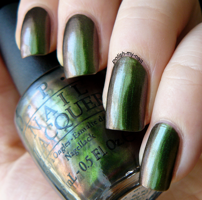 OPI Green On The Runway Swatch by Ewlyn