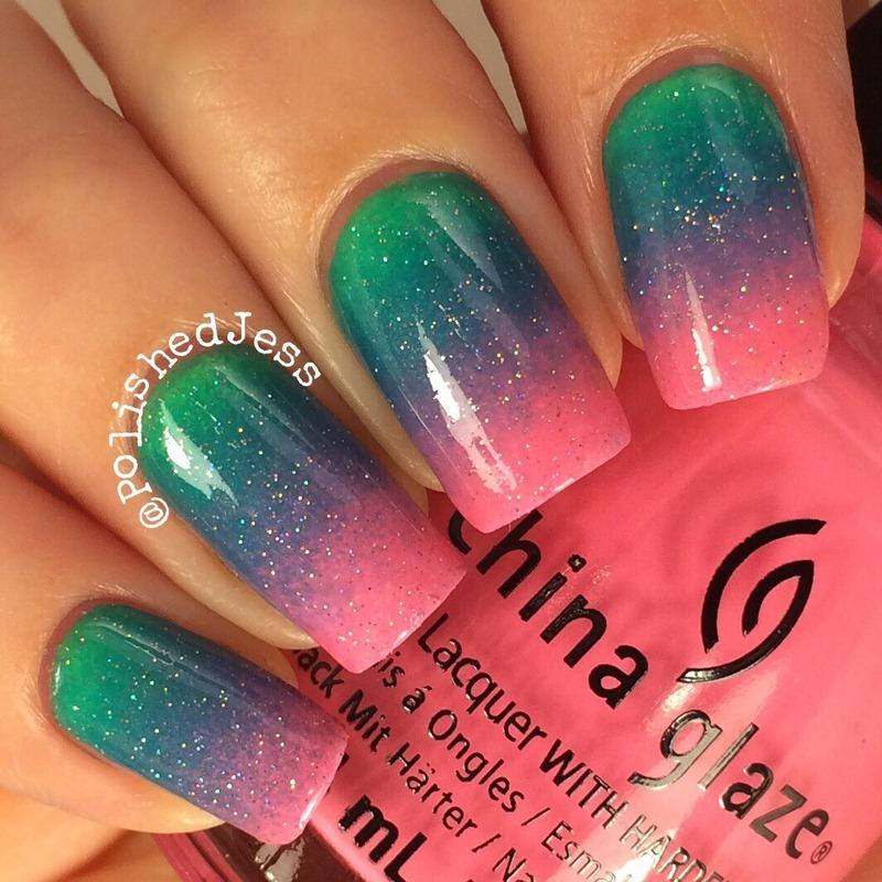 China Glaze Gradient nail art by PolishedJess