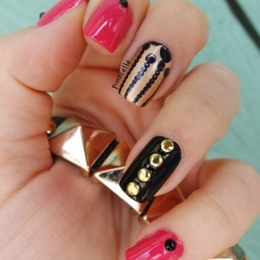 Pink Rock nail art by Pmabelle