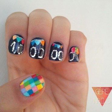 1,000,000 fans. Congrats Nailpolis!! nail art by GepeNails