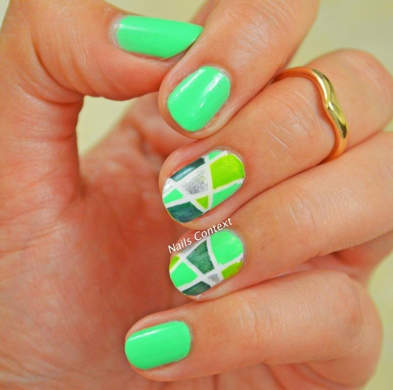 Parakeet nail art by NailsContext