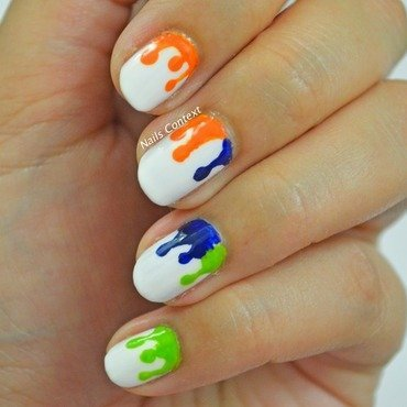 Indian Independence Day nail art by NailsContext